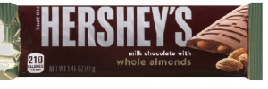 Hershey's Milk Chocolate Almonds Bar Czekolada USA